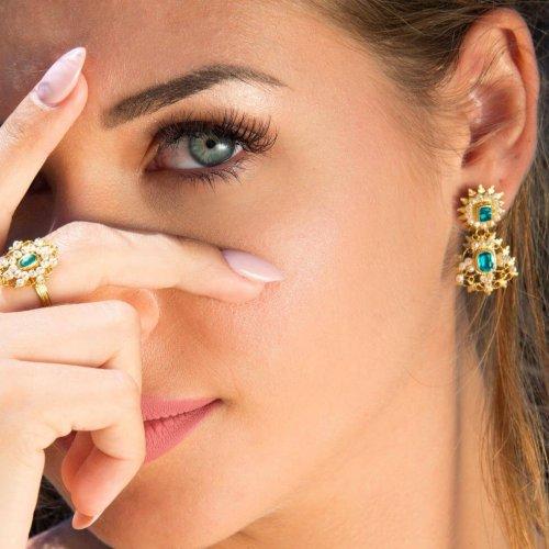 anello perle - pendenti perle topazio