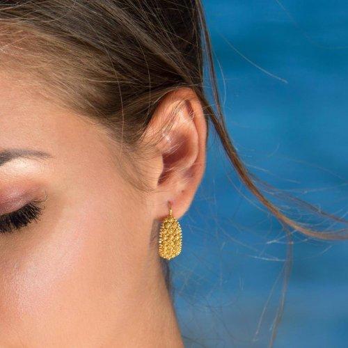 orecchini 3 file granitu
